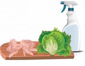 Foodborne illness because of cross contamination
