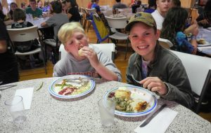 Safe dining at Camp Blue Spruce