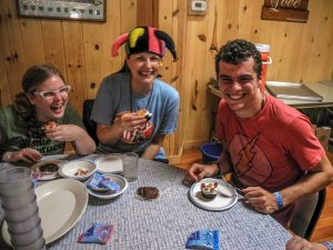 Kids Eating Allergy Friendly Foods At Camp Blue Spruce