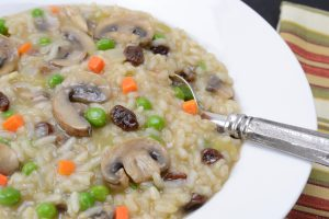 Sausage, Mushroom and Raisin Risotto by Your Allergy Chefs