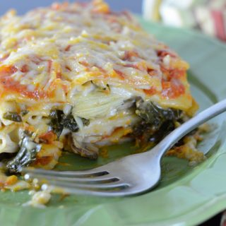 Allergen-free Sweet Potato, Kale, Artichoke and Mushroom Lasagna by Your Allergy Chefs