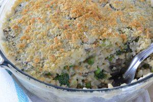 Vegan version of Roasted Turkey Mornay Casserole