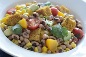 Allergy Free Black-Eyed Pea Cornbread Panzanella Recipe