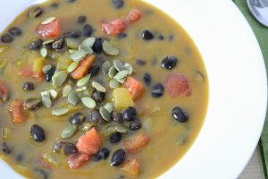 Health benefits abound with Pumpkin and Black Bean Soup