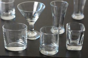 Examples of verrine glasses