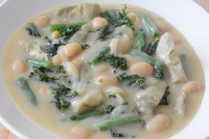 Best medley of artichokes, beans and kale