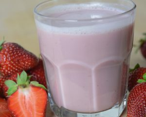 Refreshing Strawberry Milk