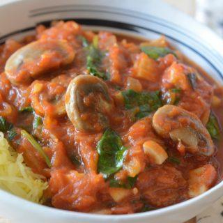 Spaghetti Squash Marinara by Your Allergy Chefs