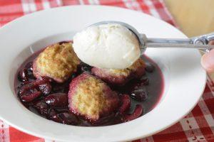 Allergy-friendly, gluten-free & vegan Cherries and Dumplings