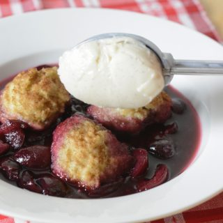 Allergy-friendly, gluten-free & vegan Cherries and Dumplings
