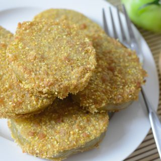 Vegan and allergy-friendly Fried Green Tomatoes