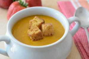 Allergy Friendly Carrot and Strawberry Soup Recipe