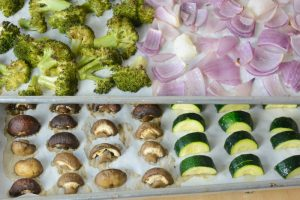 Roasted veggies for cauliflower polenta