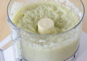 Pureeing cauliflower for polenta