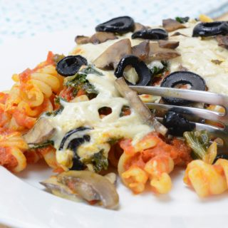 Veggie Pizza Pasta Bake by Your Allergy Chefs