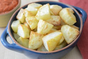 oven roasted potatoes for patatas bravas