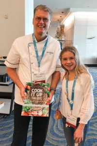 Chef Joel Schaefer and Catherine Walker at the 2018 FARECon Featuring Teen Summit