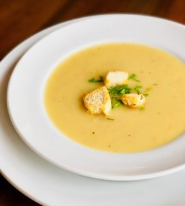 Delicious potato fennel soup free of the top 8 food allergens