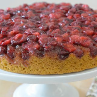 vegan cranberry pumpkin upside-down cake by Your Allergy Chefs