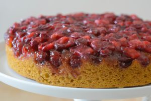 Gluten Free Cranberry Pumpkin Upside Down Cake Recipe
