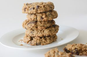 vegan and allergy-friendly Oregon trail oatmeal cookies