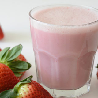 vegan and allergy-friendly strawberry milk