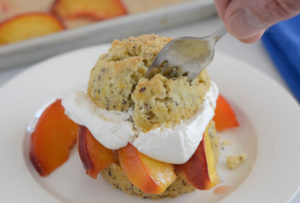 Roasted Peach Shortcakes Recipe