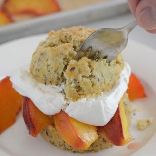 Roasted Peach Shortcakes Recipe