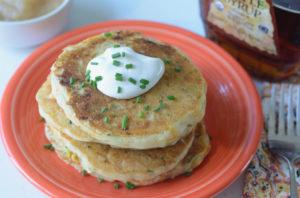 Zucchini cheddar Pancake recipe
