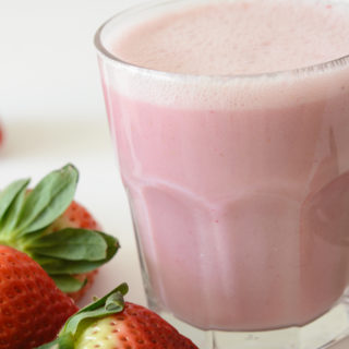 vegan and allergy friendly strawberry milk
