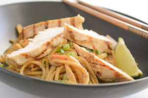 Allergen Free Thai Pasta With Grilled Chicken