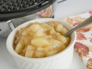 Allergen free apple compote