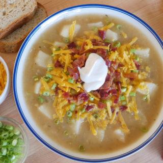 allergen free loaded baked potato soup