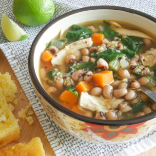 Chicken, quinoa, black eyed pea soup recipe