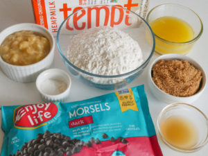mise en place for quick and easy banana cake