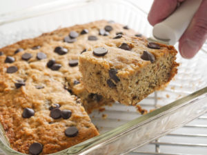 delicious and easy allergy-friendly banana chocolate chip cake