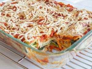 plant-based and allergy friendly Garden Veggie Lasagna with Cauliflower Cream
