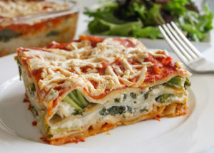 Allergy friendly Garden Veggie Lasagna with Cauliflower Cream