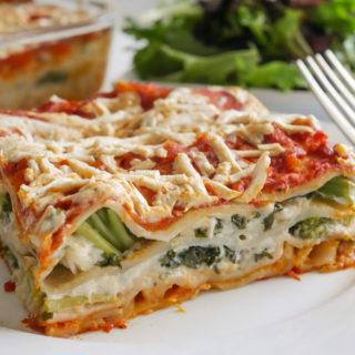 Best Garden Veggie Lasagna with Cauliflower Cream
