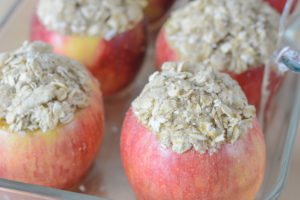 Allergen Free Baked Streusel Stuffed Apples