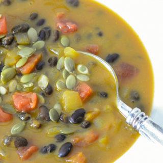 best pumpkin and black bean soup