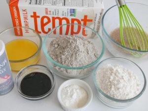Buckwheat pancakes mise