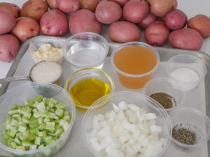 German Potato Salad mise