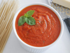 Tomato Sauce plated