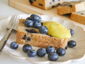 allergy-friendly blueberry poundcake