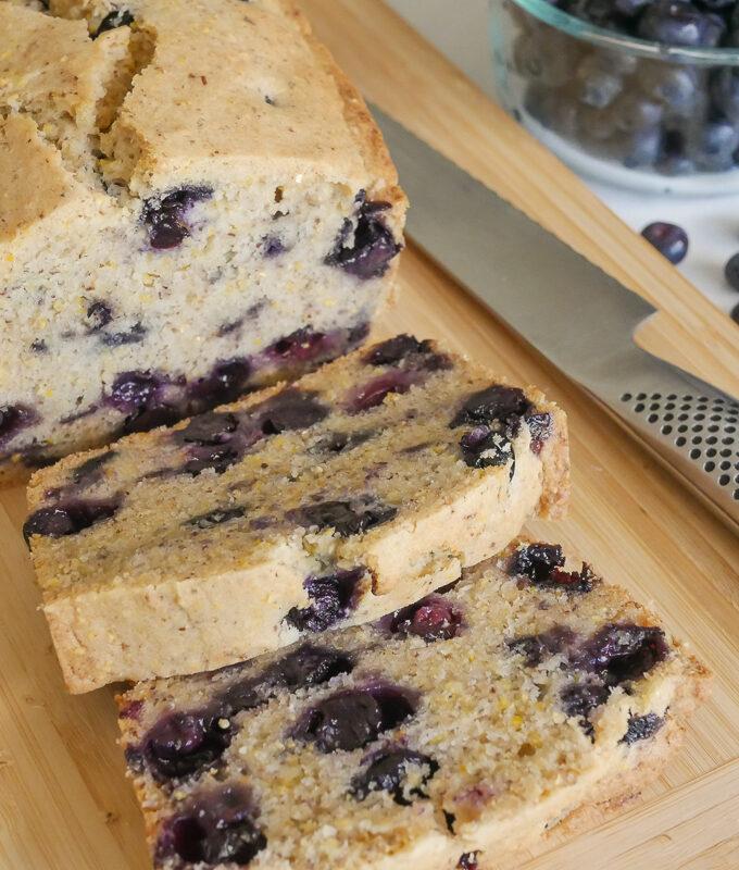 allergy friendly blueberry pound cake